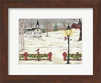 Christmas Lamppost Fine Art Print