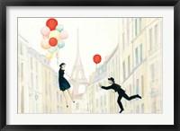 Aloft In Paris I Fine Art Print