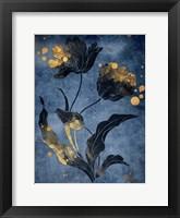 Gold Hint Floral Mate Fine Art Print