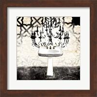 Black Cream Sink Fine Art Print