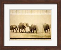Tribal Elephants Fine Art Print