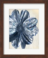 Indigo Marble Bloom 1 Fine Art Print