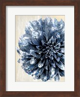 Indigo Marble Bloom 2 Fine Art Print