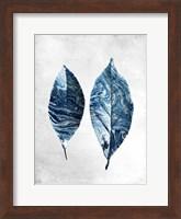 Marbled Blue Leaves 1 Fine Art Print