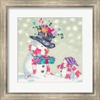 Snowman and Gifts II Fine Art Print