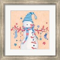 Snowman and Stockings Fine Art Print