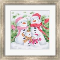 Snow Family V Fine Art Print
