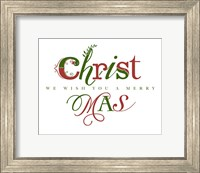 Red and Green Merry Christmas Fine Art Print