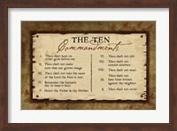 10 Commandments II Fine Art Print
