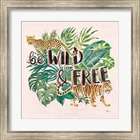 Jungle Vibes VII - Be Wild and Free Pink Fine Art Print