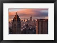 Golden Light New York Low Clouds Fine Art Print