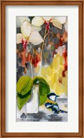 Chickadee with Orchid Fine Art Print