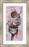 Emu with Hornet's Nest Fine Art Print