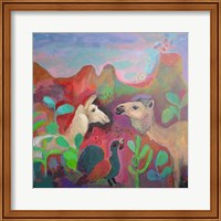 The Camel and the Llama Fine Art Print