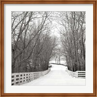 Country Lane in Winter Fine Art Print