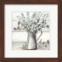 Farmhouse Cotton Tin Pitcher Fine Art Print