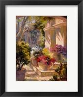 Flowered Courtyard Fine Art Print