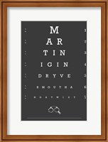 Eye Chart Martini Fine Art Print