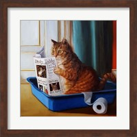 Kitty Throne Fine Art Print