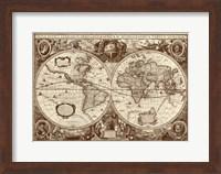 Nova Totius Terrarum Orbis Tabula (sepia) Fine Art Print