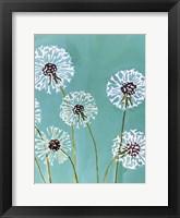 Dandelions on Aqua Fine Art Print
