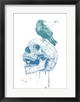 New Skull (Blue) Fine Art Print
