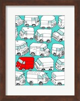 Odd Ones - Red Van Fine Art Print