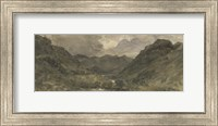 Landscape of Hills and Mountains Fine Art Print