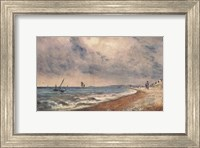Hove Beach with Fishing Boats Fine Art Print
