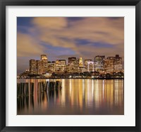 Dusk over Boston Harbor Fine Art Print