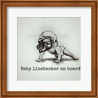 Baby Linebacker Fine Art Print