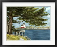 Lighthouse Under Tree Fine Art Print