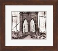 Brooklyn Bridge - sepia Fine Art Print