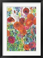 Vivid Poppy Collage I Fine Art Print