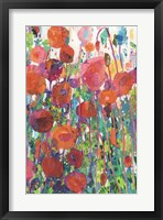 Vivid Poppy Collage II Fine Art Print