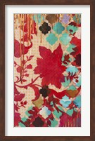 Red & Teal Gilded Age I Fine Art Print