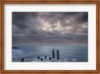 Beach Pilings, Cape May National Seashore, NJ Fine Art Print