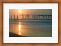 Morning Pier Sunrise, Cape May New Jersey Fine Art Print