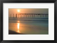 Morning Pier Sunrise, Cape May New Jersey Fine Art Print
