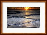 Sunset Reflection On Beach, Cape May NJ Fine Art Print