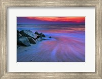 Sunset On Delaware Bay, Cape May NJ Fine Art Print
