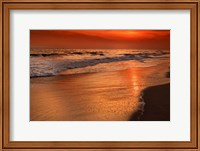 Sunset Reflections Off Clouds And Ocean Shore, Cape May NJ Fine Art Print