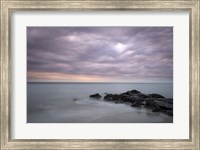 Sunrise On Stormy Beach Landscape, Cape May National Seashore, NJ Fine Art Print