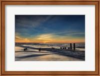 Sunrise On Winter Shoreline 2, Cape May National Seashore, NJ Fine Art Print