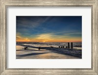 Sunrise On Winter Shoreline 2, Cape May National Seashore, NJ Fine Art Print