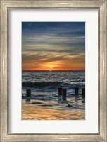 Sunrise On Winter Shoreline 3, Cape May National Seashore, NJ Fine Art Print
