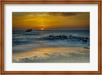 Sunrise On Ocean Shore 1, Cape May National Seashore, NJ Fine Art Print