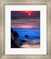 Sunset Reflection on Beach 4, Cape May, NJ Fine Art Print