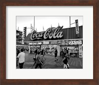 Coca Cola Sign - Boardwalk, Wildwood NJ (BW) Fine Art Print