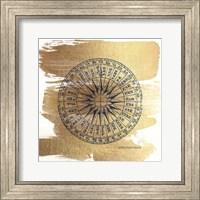 Brushed Gold Compass Fine Art Print